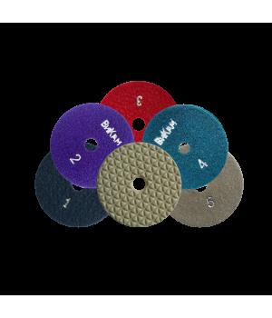 Алм. гибкий диск НС 5 шаговые D100 комплект