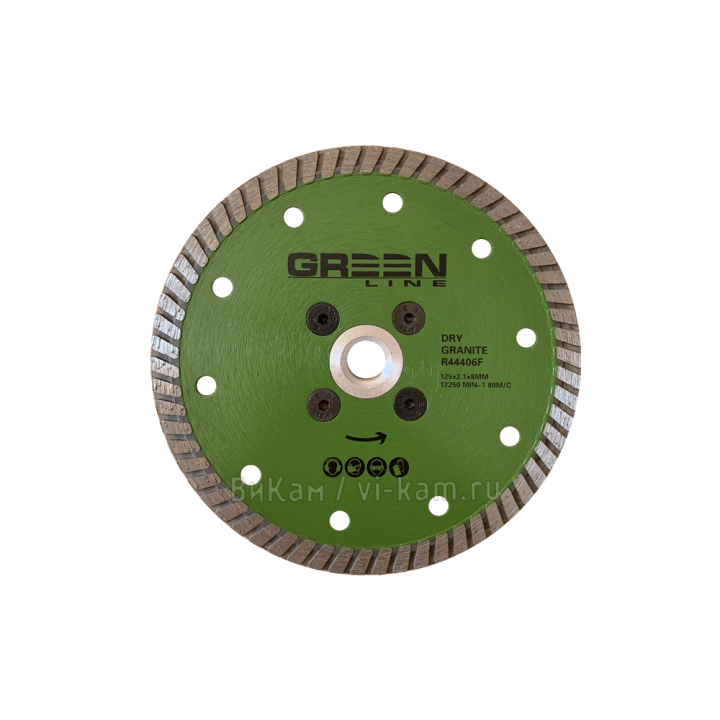 """Отр. диск """"GREEN  LINE"""" по граниту с фл. М14 D125"""