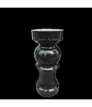 Балясина гранитная Габбро-Диабаз (черная) 45 см. * D12