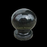 Шар гранитный Габбро (черный) D15