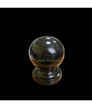 Шар гранитный Габбро (черный) D8