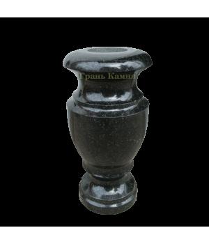 Ваза гранитная Габбро (черная) H30*D15