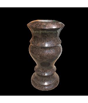 Ваза гранитная Дымовский (коричневый) H30*D15