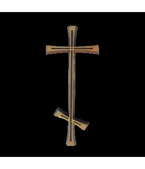 Крест православный латунный Н29