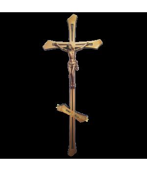 Крест-Распятие православное латунное Н44 острый край
