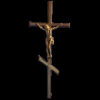 Крест-Распятие православное латунное Н44 прямой край