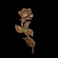 Роза латунная Н25 левая