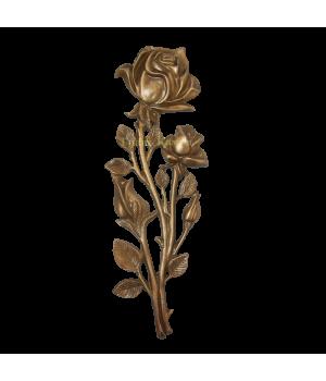 Роза латунная Н30 4 бутона
