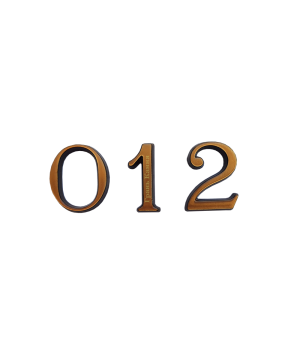 Цифра из латуни кириллица 3 см