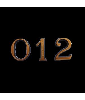 Цифра из латуни кириллица 4 см