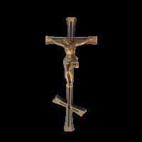 Крест-Распятие православное латунное Н20